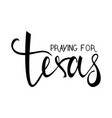 praying for texas text vector image vector image