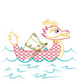 red dragon rice dumpling paddling festival chinese vector image vector image