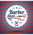 retro stylized sign for barber shop vector image