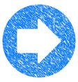 right arrow grunge icon vector image vector image