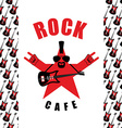 Rock Cafe Logo template for music rock bar Star vector image