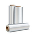 Roll of wrapping plastic stretch film vector image