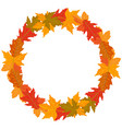round wreath of autumn leaves vector image