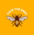 save the bees design vector image