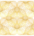 seamless gold pattern with gold ornament vector image