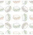 seamless pattern sandwich scetch vector image vector image
