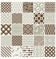 Set of endless geometric patterns composed with