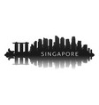 singapore skyline silhouette in black vector image