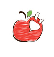 Sketch apple and radish symbols vector image vector image