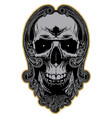 skull in decorative frame vector image vector image