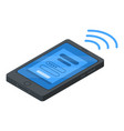 smartphone nfc payment icon isometric style vector image