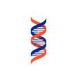 spiral green dna medical icon vector image vector image