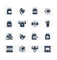 sport supplements icon set vector image