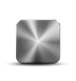 Square button metal vector image vector image