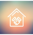 Successful real estate transactions thin line icon vector image
