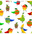 super fruits seamless pattern vector image vector image