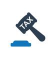 tax law icon vector image vector image