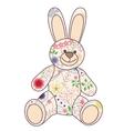 Vintage bunny toy vector image vector image
