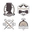 vintage style design hipster gentleman vector image vector image