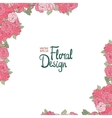 Vintage wedding border with pink roses vector image vector image