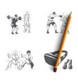 vr sports - home gym sport games martial vector image vector image