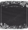 winter snowflake retro border and blackboard vector image vector image