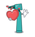 with heart otoscope mascot cartoon style vector image