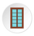 wooden brown latticed window icon circle vector image vector image