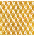 yellow color geometric seamless pattern vector image vector image