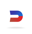 D letter logo template Blue and red colors magnet vector image