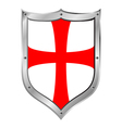 Knights Templar shield vector image