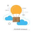 cloud storage concept vector image