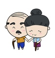 Elderly couple of lover vector image