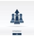 Strategy concept icon logo vector image