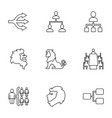 9 company icons vector image vector image