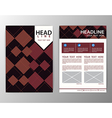 Abstract Brown Square Geometric Brochure Template vector image vector image