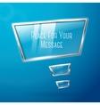 Abstract hi tech glossy glass and metal shiny vector image