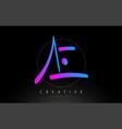 ae artistic brush letter logo handwritten vector image vector image