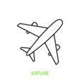 airplane outline icon summer journey vector image