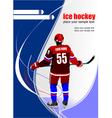 al 0711 hockey poster 04 vector image vector image