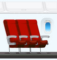 an plane seat interior vector image vector image