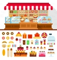Bakery with confectioneryon the shelves vector image vector image