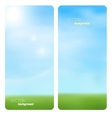Banner spring grass in sun light vector image