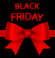 big sale card with bow on black friday vector image