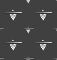 Billiard pool game equipment icon sign Seamless vector image