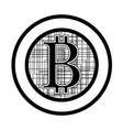 bitcoin flat design vector image vector image