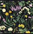 botanical seamless pattern with flowering vector image vector image