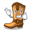 call me leather cowboy boots shape cartoon funny vector image vector image