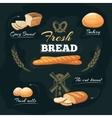 Chalkboard bakery cafe menu template vector image vector image