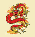 chinese oriental style dragon vector image